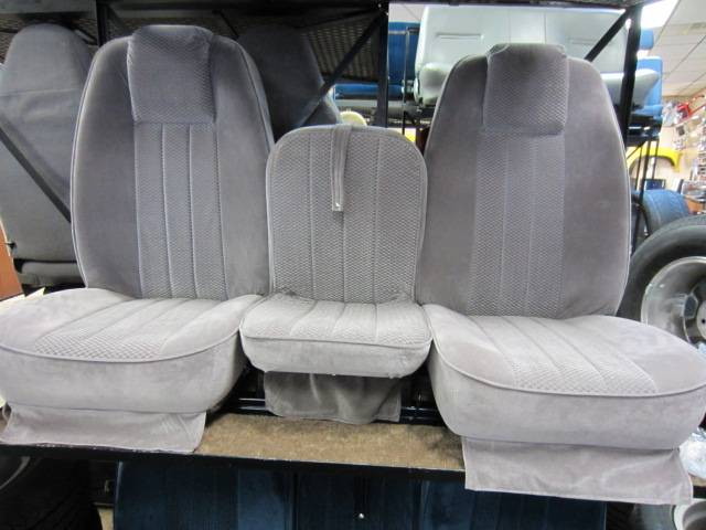 94-97 Dodge Ram Club Cab C-200 Light Gray Cloth Triway ...