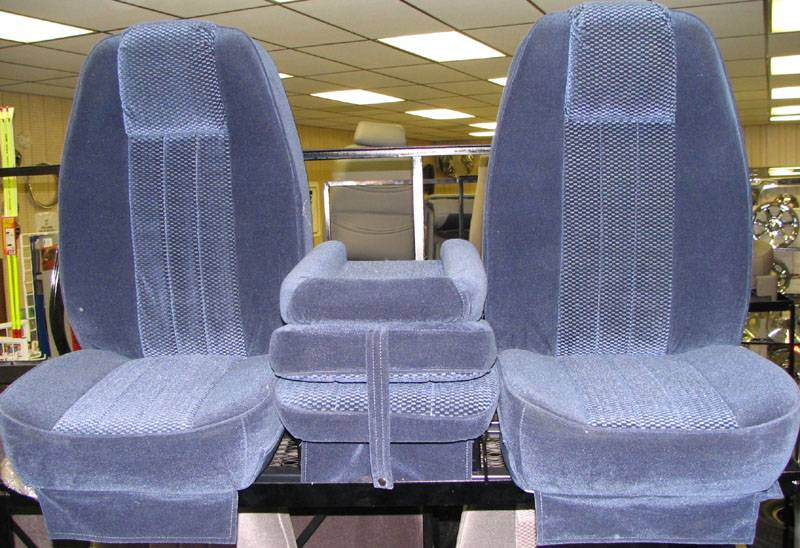 80 96 Ford F 150 Reg Or Ext Cab With Original Oem Bench Seat C 200 Blue Cloth Triway Seat Dick S