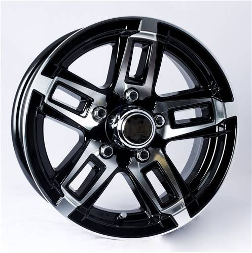 """Ford Ranger Lug Pattern >> 15"""" 5-Lug 5 Spoke T06 with Black Inlays Aluminum Trailer Wheel Dick's Auto Parts, Middlebury IN"""