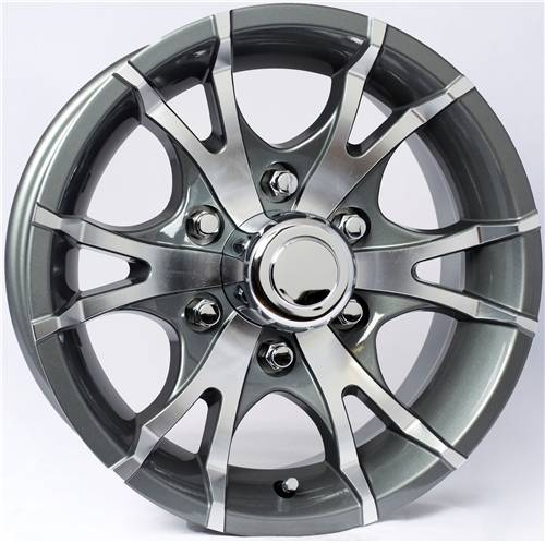 "Ford Ranger Lug Pattern >> 15"" 6-Lug 5 Spoke T07 with Gunmetal Gray Inlays Aluminum ..."