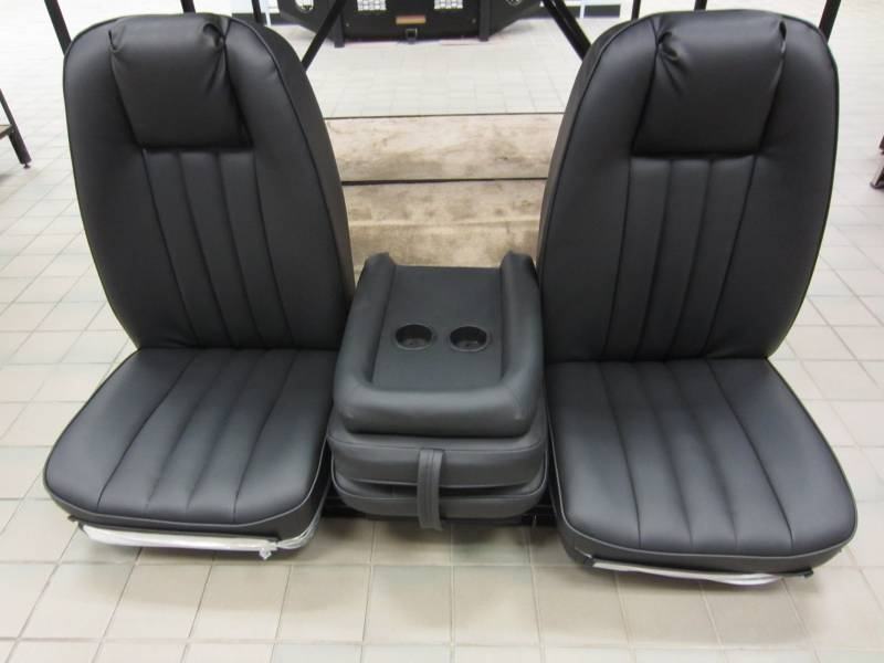 80-96 Ford F-150 Ext Cab with Original OEM Bucket Seats V-200 Black Vinyl Triway Seat, Dick's
