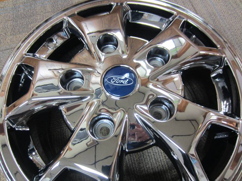 """Ford Transit 150 >> 2015 Ford Transit 250 Van 5 Lug 16"""" PVD Chrome Wheels *Set of 4, Dick's Auto Parts, Middlebury, IN"""
