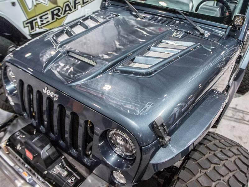 Owens 07 17 Jeep Wrangler Venom Heat Extraction Hood Dick