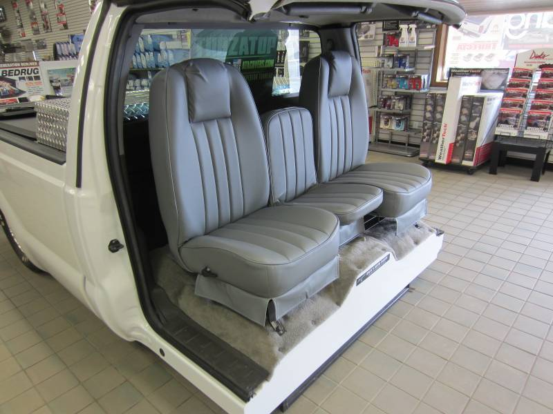 73 79 Ford Full Size Truck V 200 Gray Vinyl Triway Seat