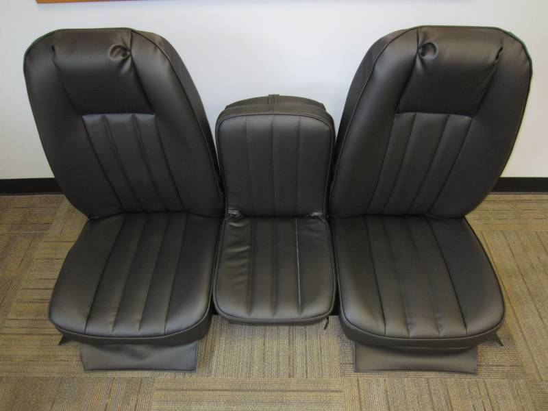 73 79 Ford Full Size Truck V 200 Black Vinyl Triway Seat