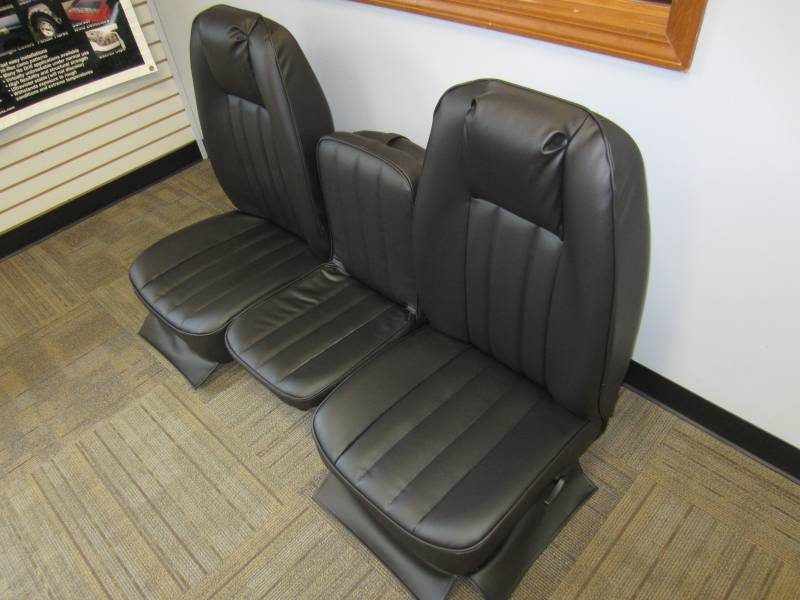 ford   ext cab  original oem bucket seats   black vinyl triway seat dicks