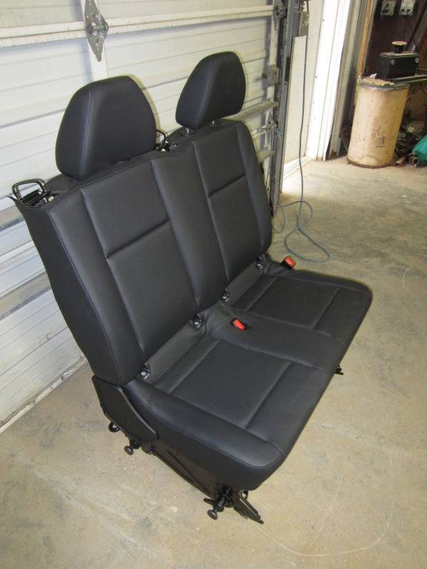 2016 Mercedes Benz Metris Van Black Leather 2nd Row Bench