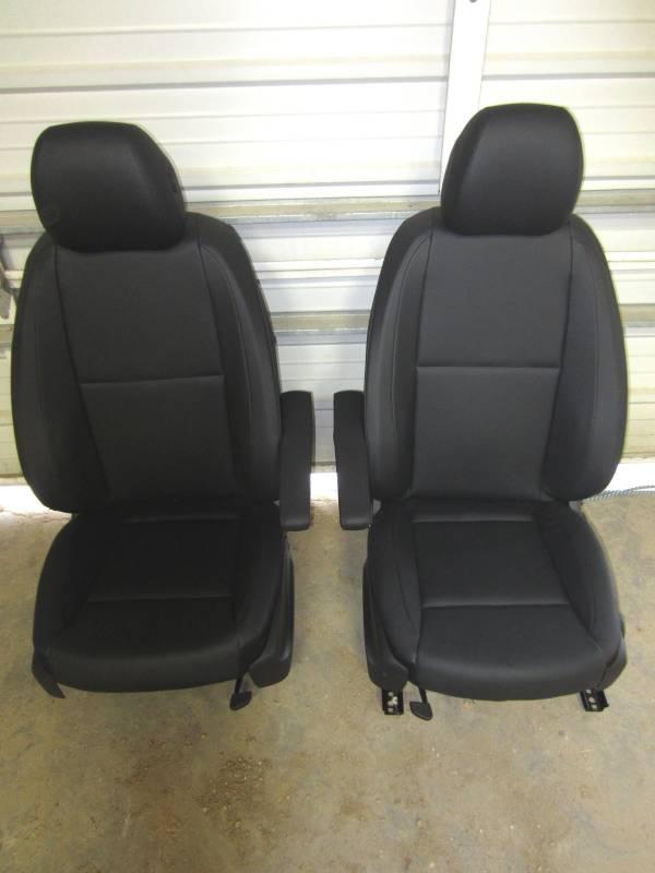 2016 mercedes benz metris van black leather front buckets for Mercedes benz leather seats