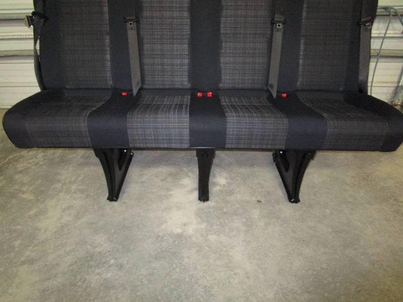 14 18 Mercedes Benz Sprinter Van 4 Passenger Black Cloth Rear Bench