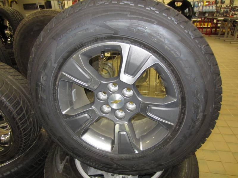 "New Ford Explorer >> 15-16 Chevy Colorado 6 Lug 17"" OEM Wheels & 255/65R17 Goodyear Wrangler All-Terrain Adventure ..."