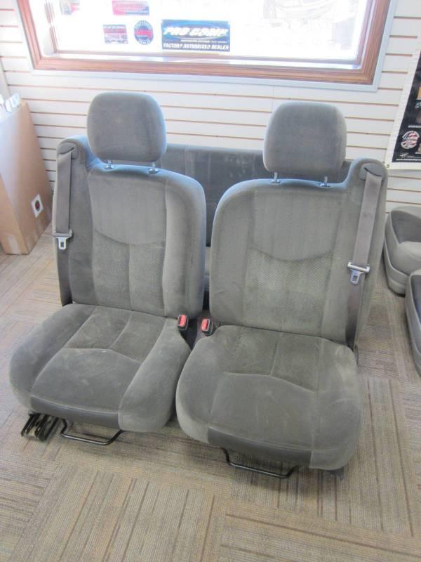 99 06 Chevy Silverado Gmc Sierra Gray Cloth Bucket Seat
