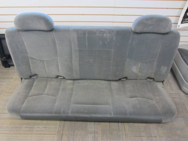 99 06 Chevy Silverado Gmc Sierra Gray Cloth Rear Bench