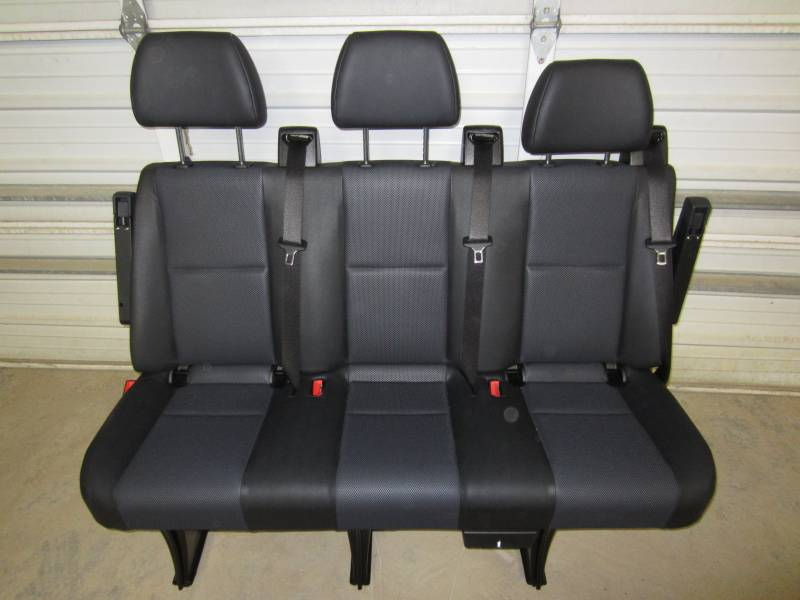14-18 Mercedes Benz Sprinter Van 3-Passenger Black Leather