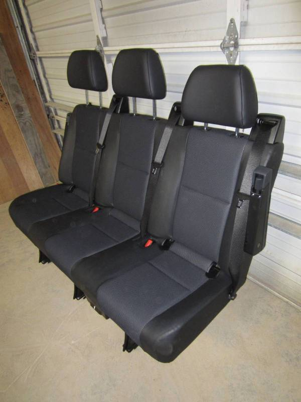 14 18 Mercedes Benz Sprinter Van 3 Passenger Black Leather Rear Bench Seat Dick S Auto Parts