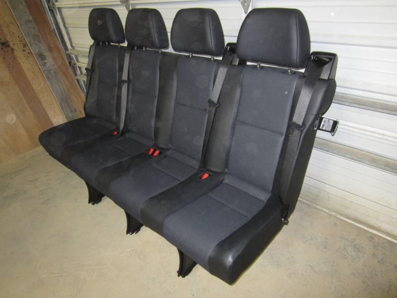14 16 Mercedes Benz Sprinter Van 4 Passenger Black Leather Rear Bench Seat Dick S Auto Parts