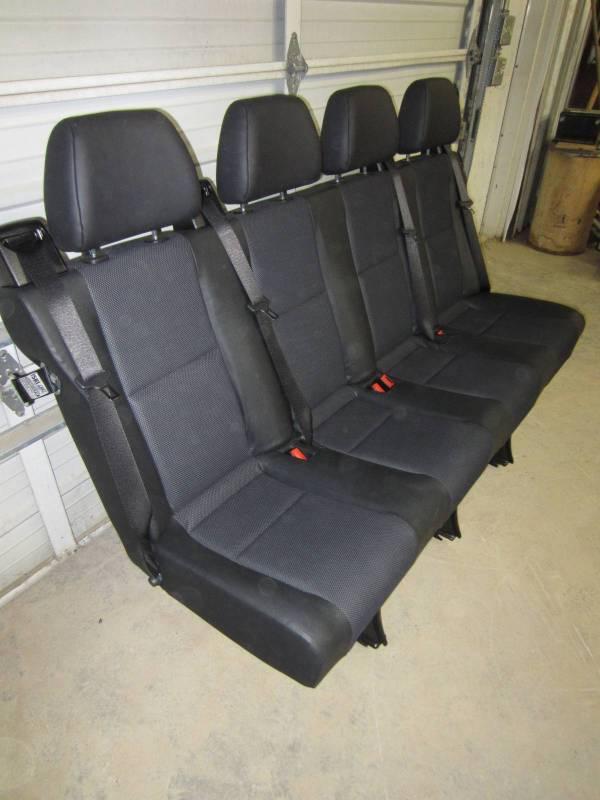 14 16 Mercedes Benz Sprinter Van 4 Passenger Black Leather Rear