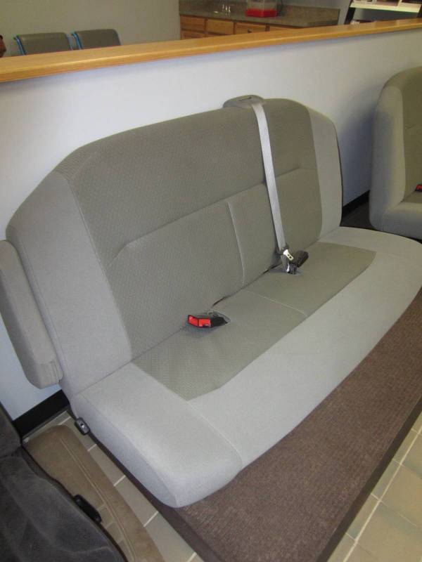Nissan Passenger Van >> 08-15 Ford Econoline Van 2nd Row 3-Passenger Gray Cloth Bench Seat w/Arm, Dick's Auto Parts ...