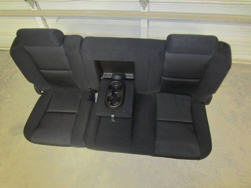 07 13 Chevy Silverado Gmc Sierra Crew Cab Black Cloth Rear