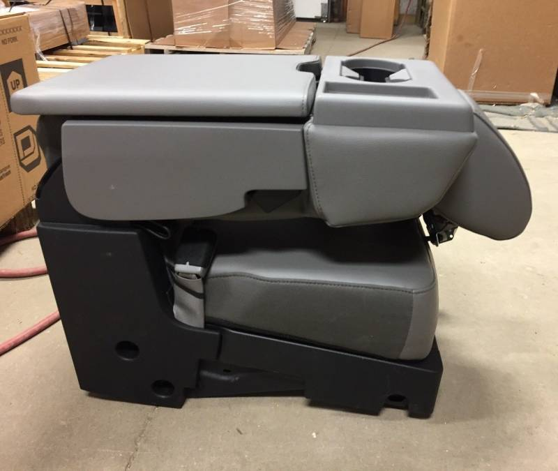 Ram Seat Covers >> 2017 Ford F-250/F-350/F-450 SD OEM Gray 40-20-40 Vinyl Jump Seat Center Console, Dick's Auto ...