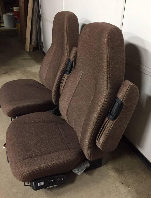 Semi Truck Seats >> M2 Freightliner Semi Truck Brown Cloth Sears 70 Series Air Ride
