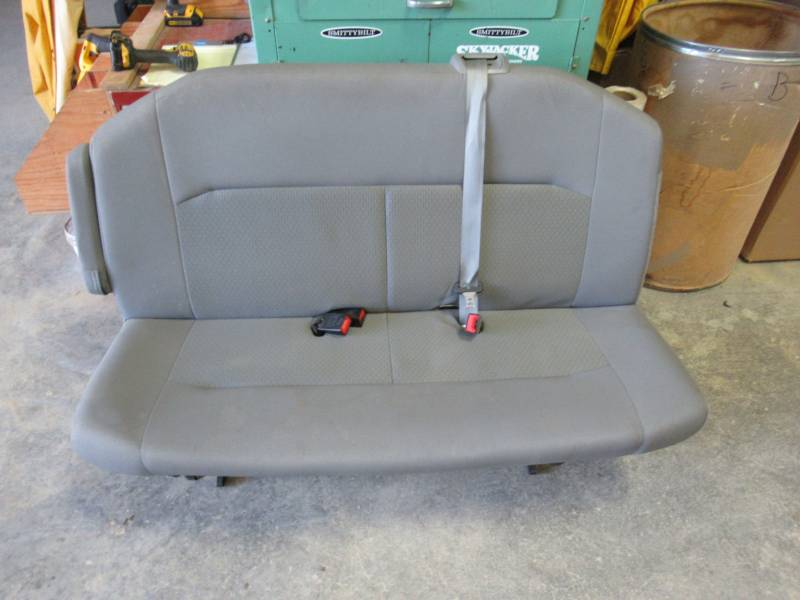 Terrific 08 15 Ford Econoline Van Xl 2Nd Row 3 Passenger Gray Cloth Pdpeps Interior Chair Design Pdpepsorg