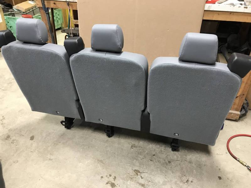 2015 2018 Ford Transit Van Oem Gray Vinyl 3 Passenger 62