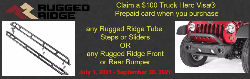 $100 Rugged Ridge Bumper & Step Rebate