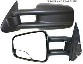 Kool Vue - 99-05 CHEVY SILVERADO MIRROR LH, Manual, Telescoping Type (Camper Towing)