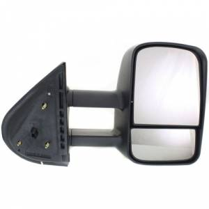 Kool Vue - 07-14 CHEVY SILVERADO/GMC SIERRA PICKUP MIRROR RH, Manual Folding, Telescoping, Glass-Convex, Manual Folding