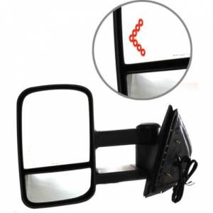 Kool Vue - 07-14 CHEVY SILVERADO/GMC SIERRA PICKUP MIRROR LH, Power, Heated, Manual Folding, Telescoping Glass-Flat