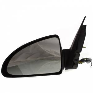Kool Vue - 06-07 CHEVY MALIBU MIRROR LH, Rear View, Power, Heated, Black, Manual Folding, Glass-Flat, Assembly