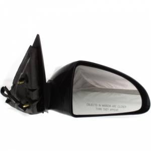 Kool Vue - 06-07 CHEVY MALIBU MIRROR RH, Rear View, Power, Heated, Black, Manual Folding, Glass-Flat, Assembly