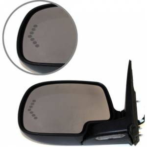 Kool Vue - 00-06 CHEVY SUBURBAN/GMC YUKON XL MIRROR LH, Pwr-Htd, w/ Dimmer & Signal on Glass, Power Folding, w/ Pai