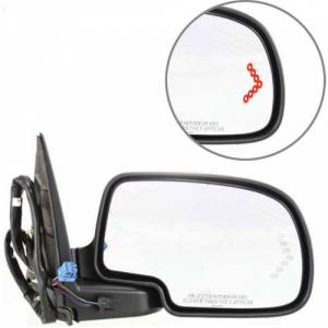 Kool Vue - 03-06 CHEVY AVALANCHE MIRROR w/Body Cladding RH, Pwr-Htd, No Dimmer, Signal on Glass, Power Folding, w/ Memory, No Puddle