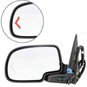 Kool Vue - 03-06 CHEVY TAHOE/GMC YUKON MIRROR LH, Pwr-Htd, w/ Dimmer & Signal on Glass, Power Folding, w/ Memory