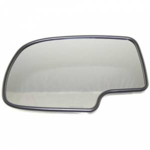 Kool Vue - 2002 Chevy Avalanche MIRROR GLASS, LH, w/ Support, w/ Heater & Auto Dimming Glass