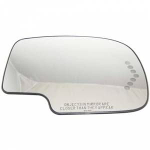 Kool Vue - 03-06 CHEVY AVALANCHE w/BODY CLADDING MIRROR GLASS, RH, w/ Support, w/ Heater