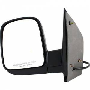 Kool Vue - 03-09 CHEVY EXPRESS/GMC SAVANNA VAN MIRROR LH, Power w/ Heater, w/o Signal Lamp, Manual Folding, Smooth Black