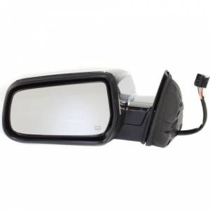 Kool Vue - 10-12 GMC TERRAIN MIRROR LH, Power, Heated, Manual folding, Chrome, w/ Memory