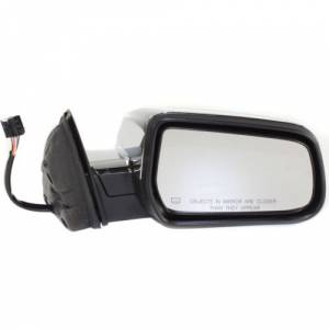Kool Vue - 10-12 GMC TERRAIN MIRROR RH, Power, Heated, Manual folding, Chrome, w/ Memory