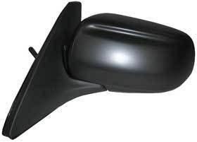 Kool Vue - 99-03 MAZDA PROTEGE MIRROR LH, Manual Remote, Black Textured Cap