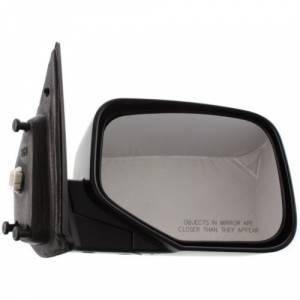 Kool Vue - 06-11 HONDA RIDGELINE MIRROR RH, Power, Non-Heated, Manual Folding, Textured Black