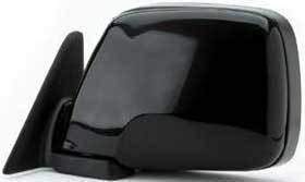Kool Vue - 91-97 TOYOTA LAND CRUISER MIRROR LH, Power, Black