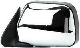 Kool Vue - 90-95 TOYOTA 4RUNNER MIRROR LH, Power, Chrome, w/o Vent Window, Corner Mount