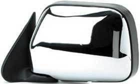Kool Vue - 90-95 TOYOTA 4RUNNER MIRROR LH, Manual, Chrome, w/o  Vent Window, Corner Mount