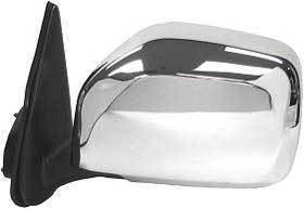 Kool Vue - 2000 TOYOTA TACOMA  DOOR MIRROR LH, Manual, Chrome, w/Off Road Package, Housing 9 in. x 7 in.