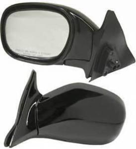 Kool Vue - 96-00 TOYOTA RAV4 MIRROR LH, Assy, Manual, Rear View, 2 Door, Foldaway, Black, Glass-Convex