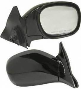 Kool Vue - 96-00 TOYOTA RAV4 MIRROR RH, Assy, Manual, Rear View, 2 Door, Foldaway, Black, Glass-Convex
