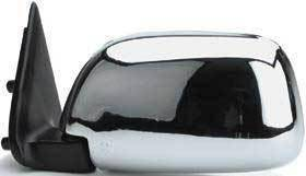 Kool Vue - 89-95 TOYOTA PICKUP MIRROR LH, Manual, Chrome, Corner Mount, w/o Vent Window Type