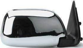 Kool Vue - 89-95 TOYOTA PICKUP MIRROR RH, Manual, Chrome, Corner Mount, w/o Vent Window Type
